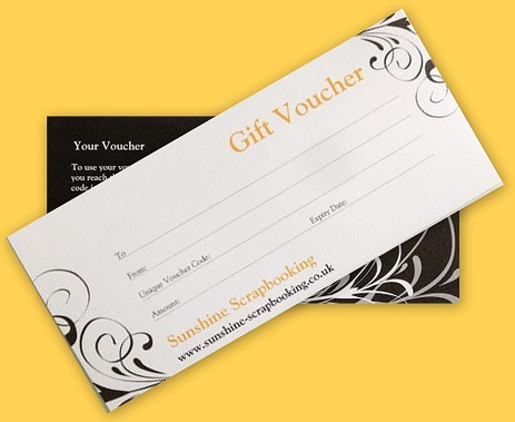 Gift Vouchers for Sunshine Scrapbooking - how to make vouchers