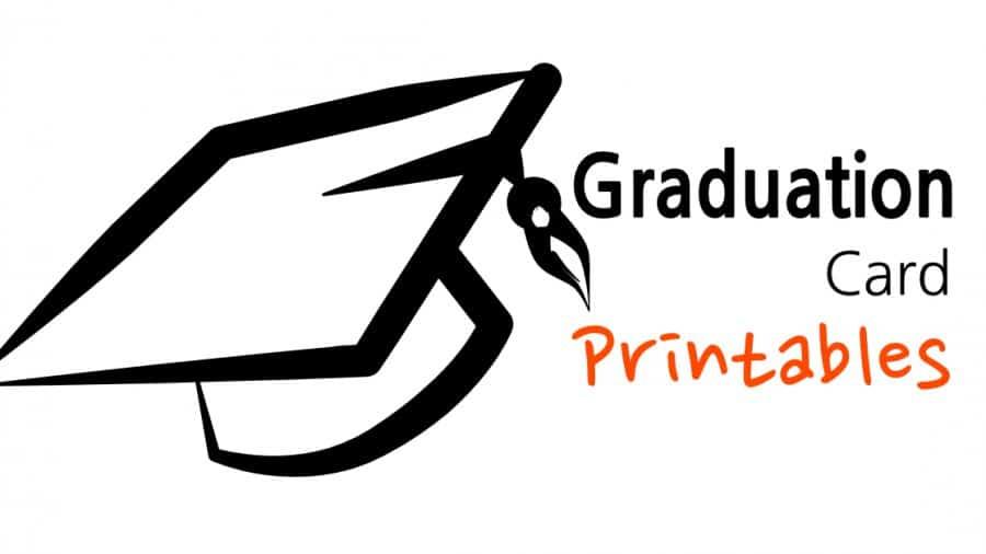 Graduation Card Printables - Sunshine and Rainy Days - print grad cards