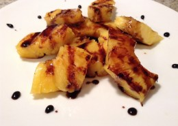 grilled pinapple and balsamic