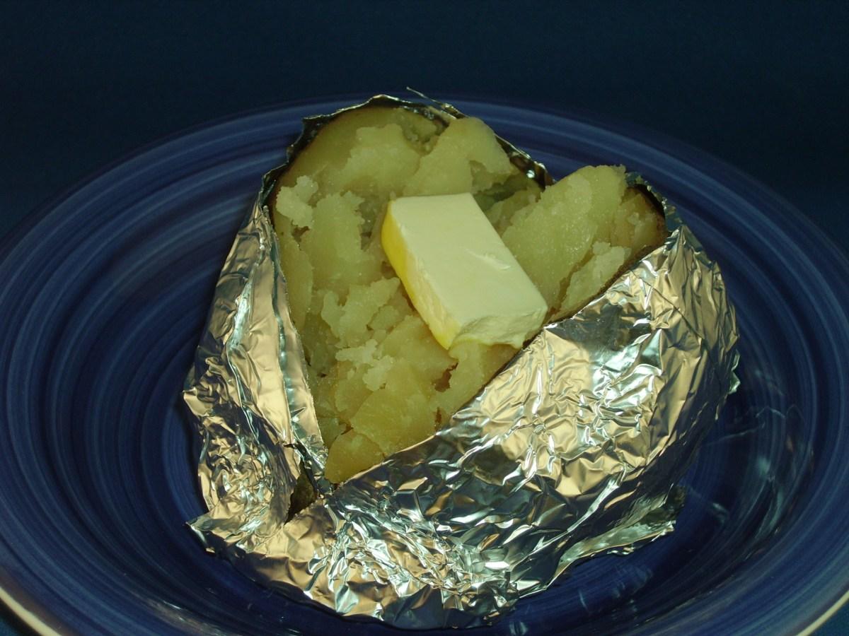 Solar Baked Potatoes