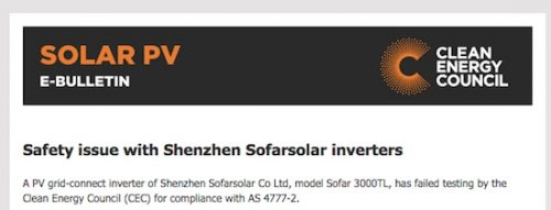 Chinese solar inverter brand de-listed over safety issues