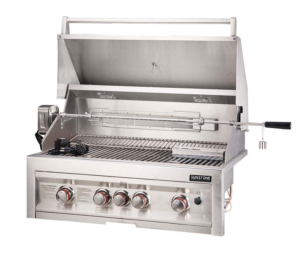 Outdoor Grill Sunstone 4 Burner Grill W Lights 34
