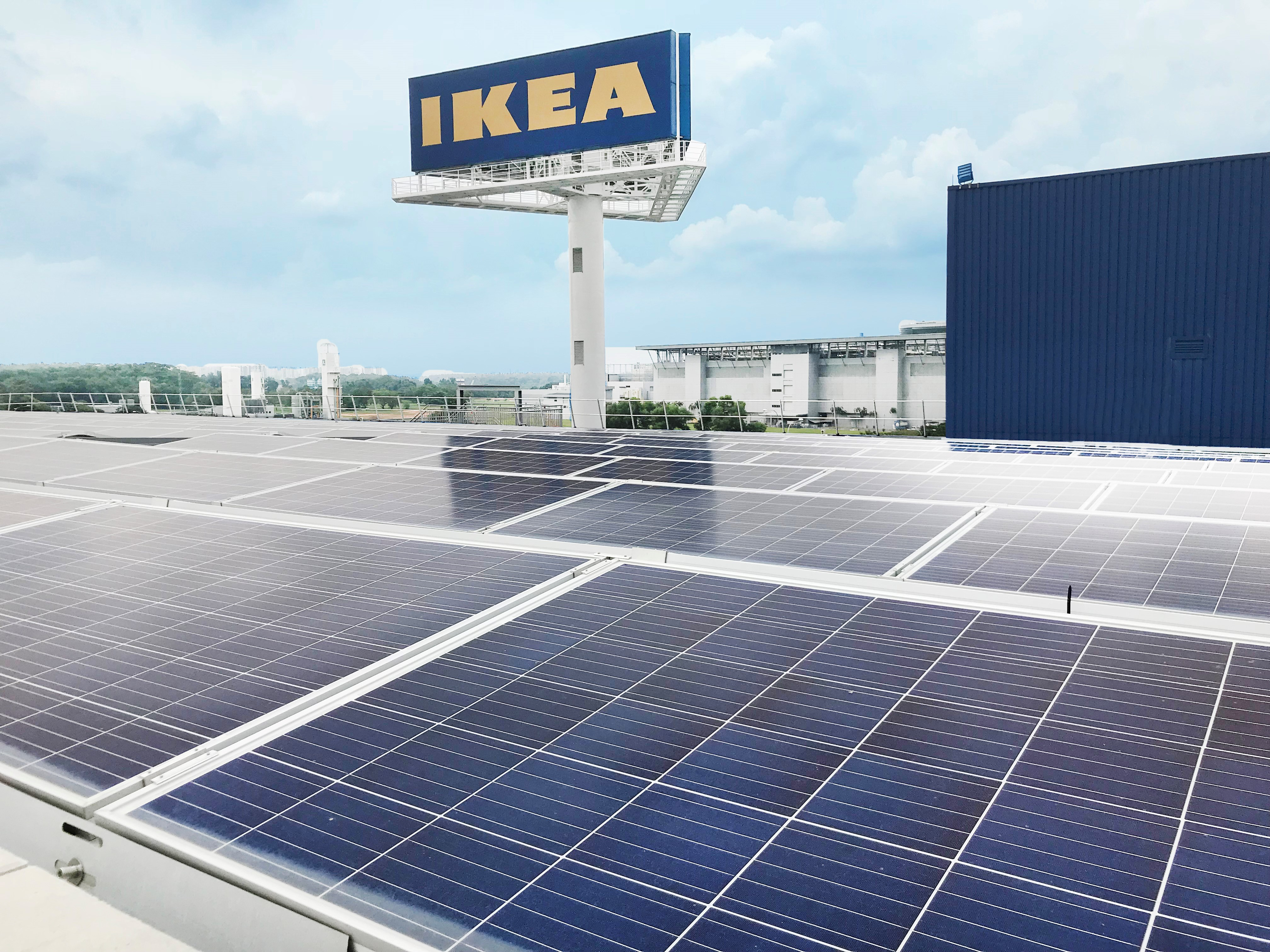 Neon Ikea Ikea About To Harness More Solar Energy Using Abb Smart Inverters