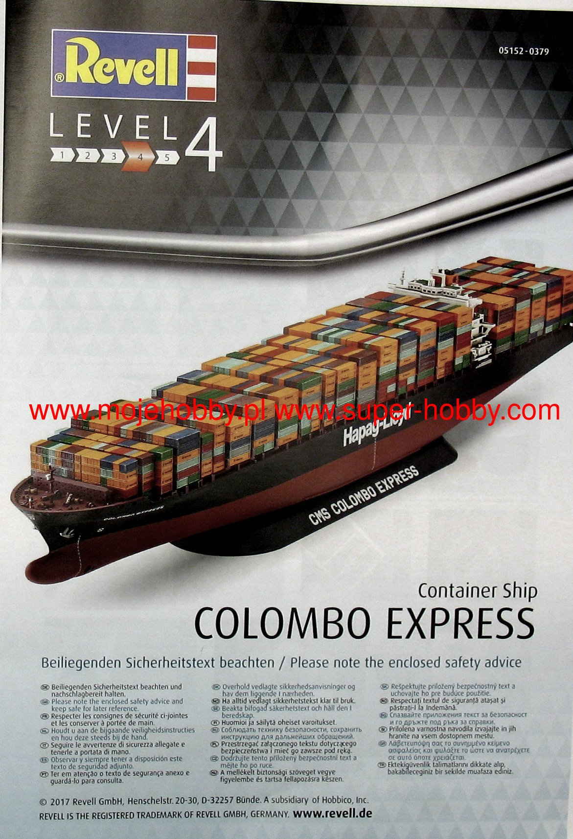 Colombo Scale Container Ship Colombo Express Revell 05152
