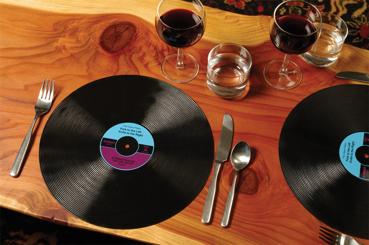 Set De Table Tendance Set De Table Disque Vinyle X2 Le Set De Table Vintage