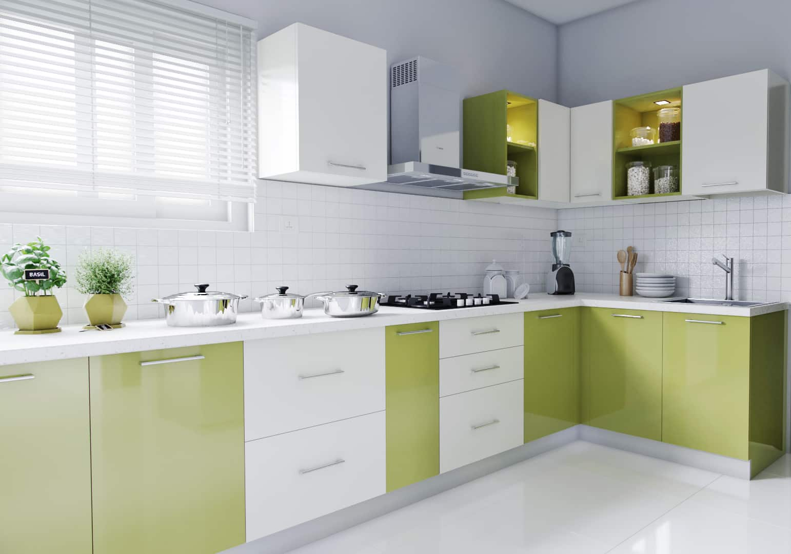 Modular Kitchen Design For L Shape L Shaped Modular Kitchen Designs India Homelane