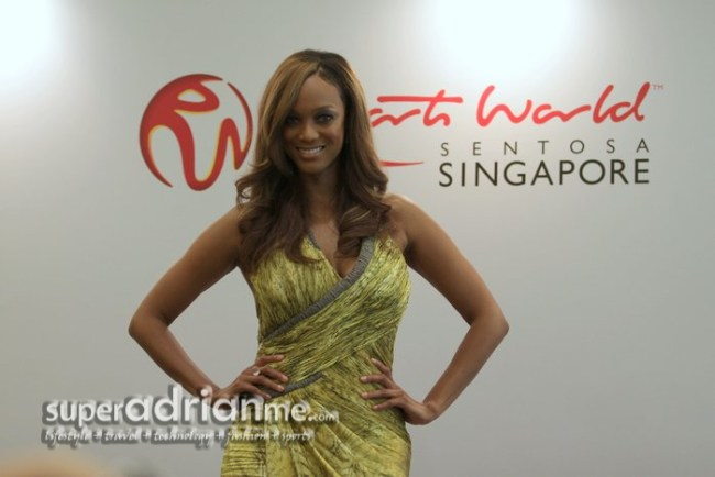 Tyra Banks in Singapore for Asia's Next Top Model