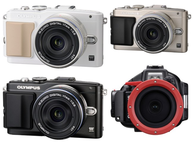 OLYMPUS PEN Lite E-PL5 comes in White, Black & Silver and optional accessory Under Water Housing