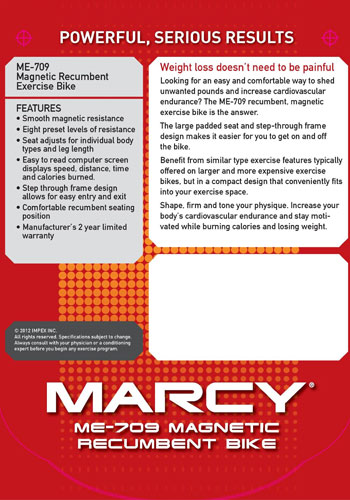 Marcy ME 709 Recumbent Bike Reviews