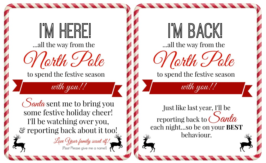 Elf on the Shelf Ideas for Arrival 10 Free Printables! Letters - free printable welcome back sign