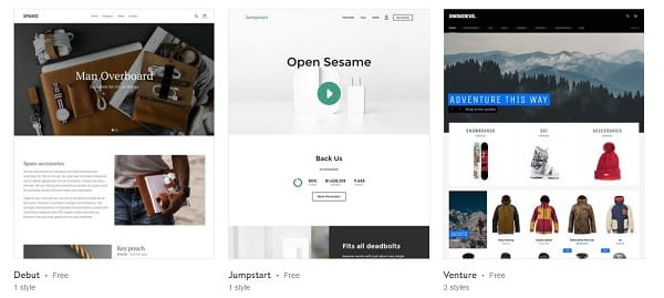 Shopify Templates Free fashion theme minimal ecommerce website - shopify template