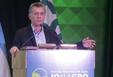 Mauricio Macri ayer, en la Jornada Nacional del Agro. FOTO: DyN.