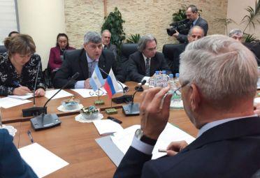 La delegación argentina, en Rusia. FOTO: Ministerio de Agroindustria.