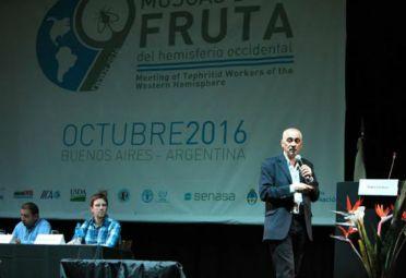 Pablo Cortese, del Senasa, durante su disertación.