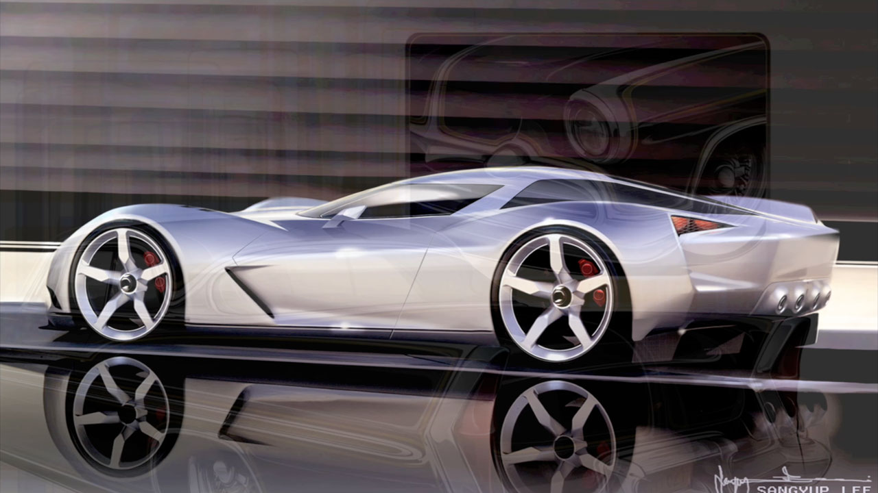 Custom Classic Car Wallpapers Corvette Stingray Concept Supercar Sketches