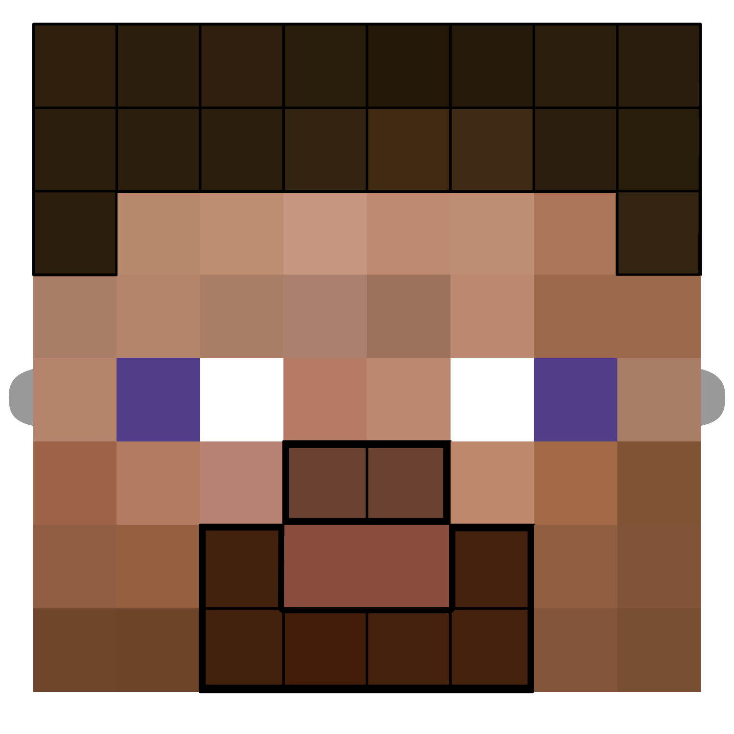Minecraft Characters Faces Minecraft Steve Mask Template Free Printable Papercraft
