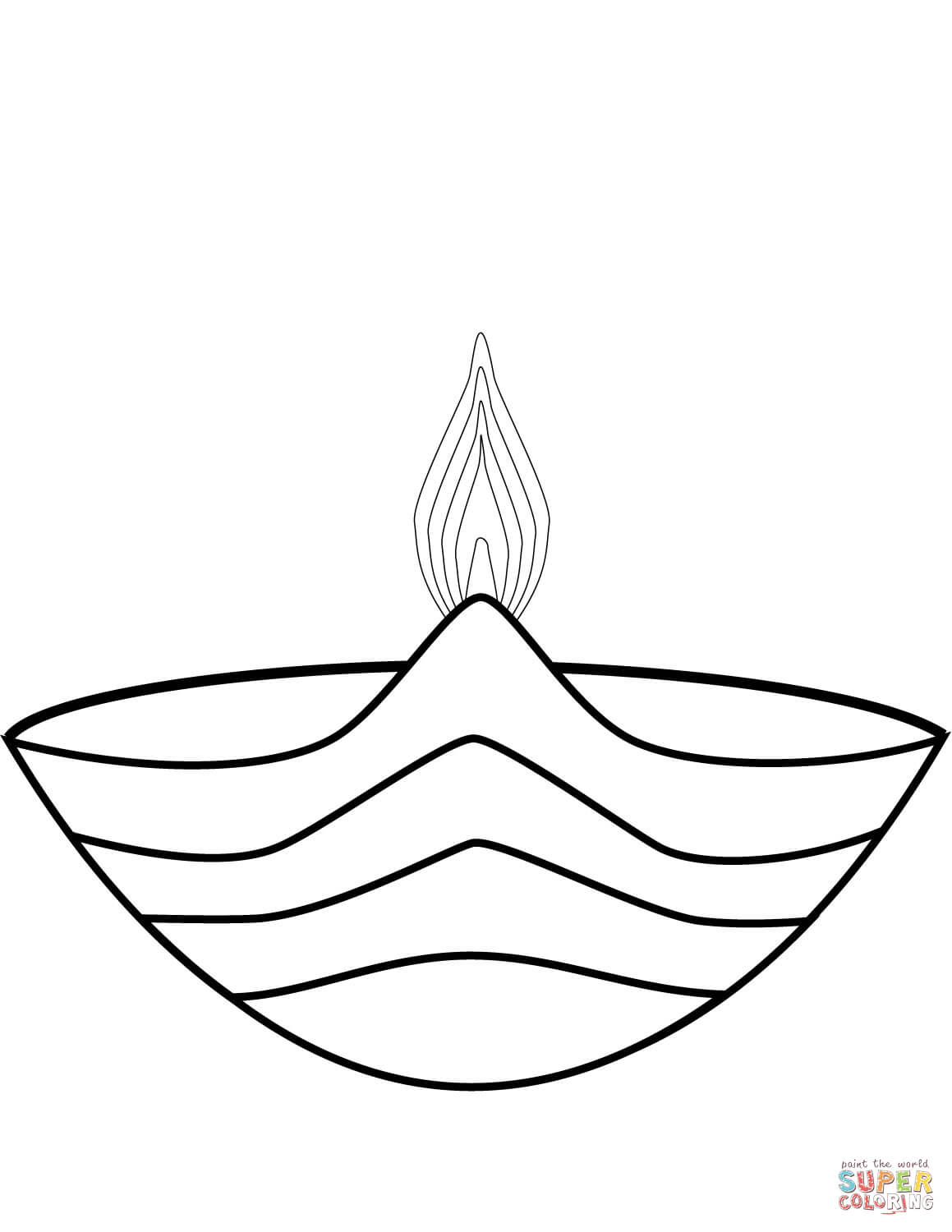 Diwali Black And White Pictures Symbol Of Diwali Coloring Page Free Printable Coloring Pages