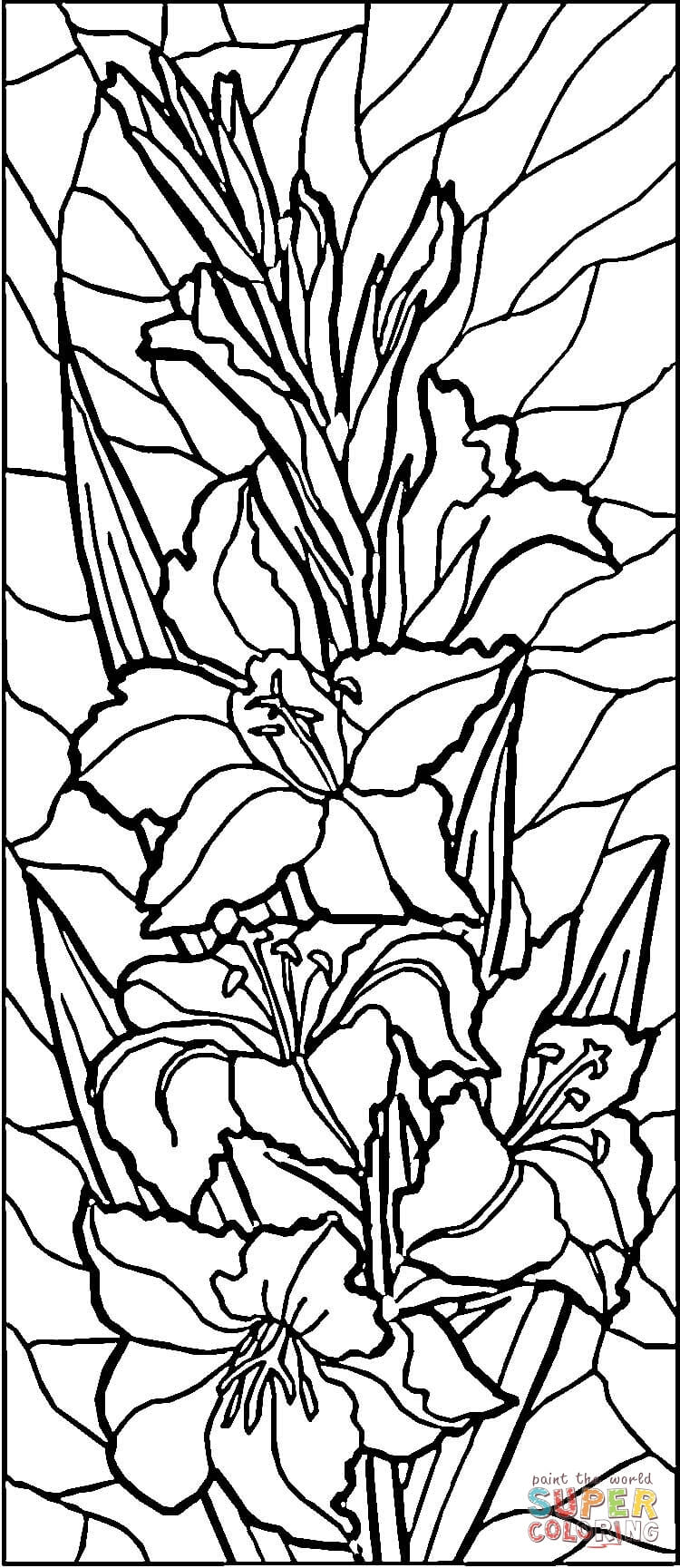 Calla Lily Flower Template Stained Glass Lilies Coloring Page | Free Printable