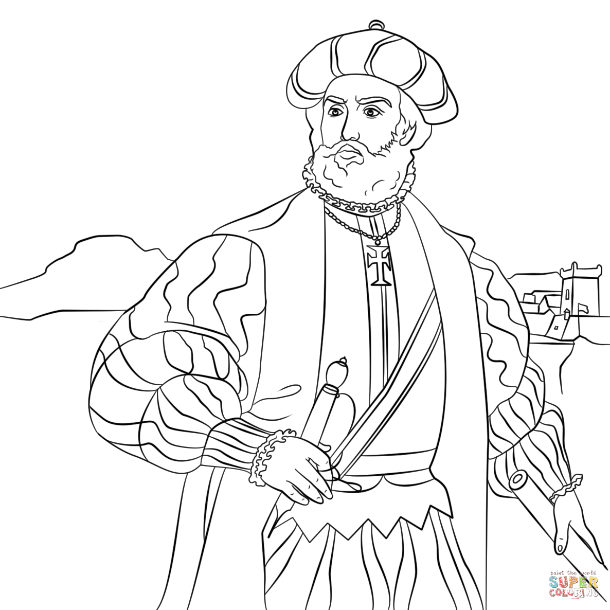 And Vasco Da Gama Vasco Da Gama Coloring Page Free Printable Coloring Pages