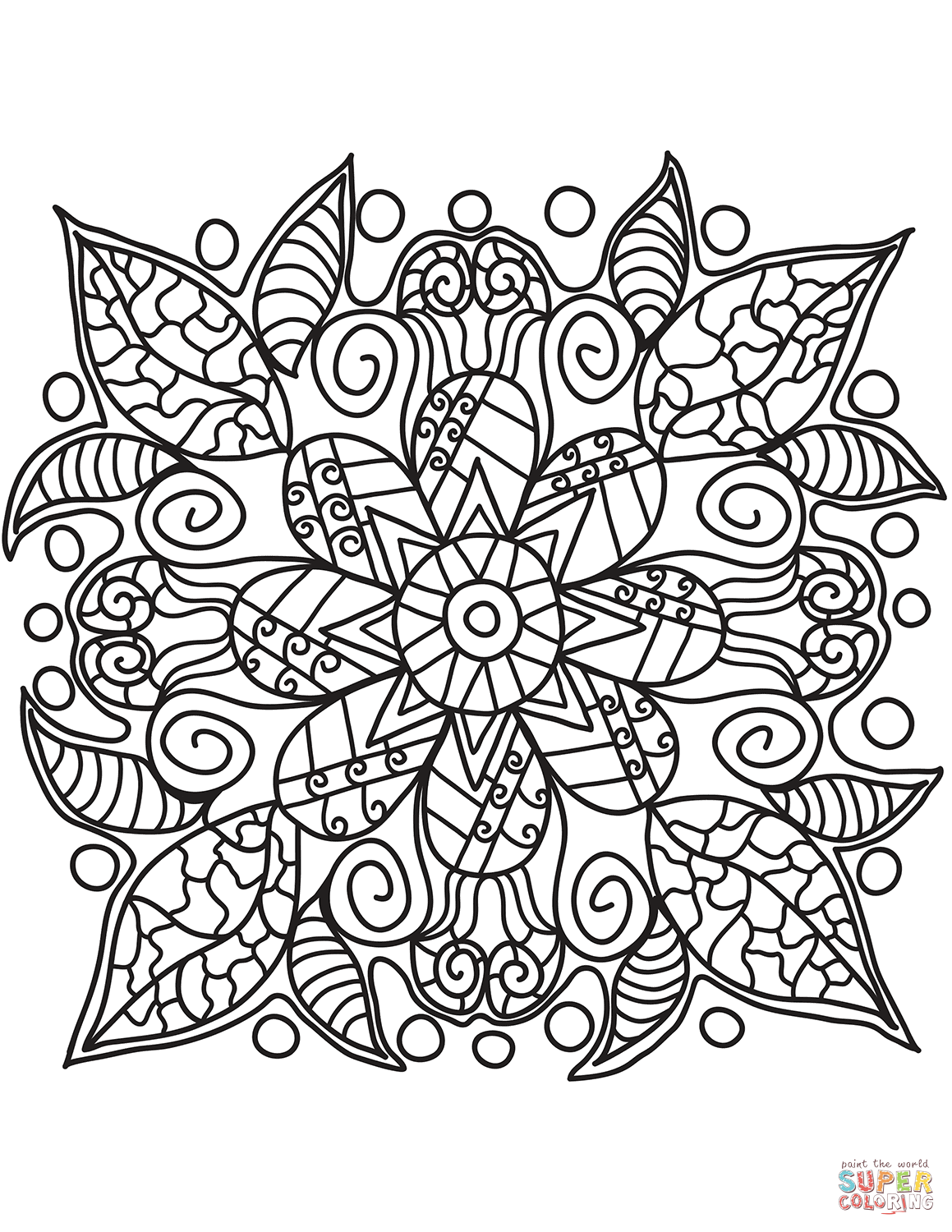 Arte Floral Vetor Pop Art Flower Coloring Page Free Printable Coloring Pages