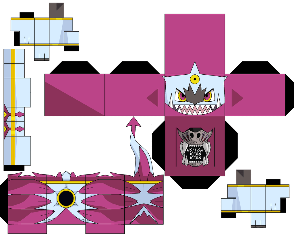 Banette Papier Hoopa Unbound Paper Toy Free Printable Papercraft Templates