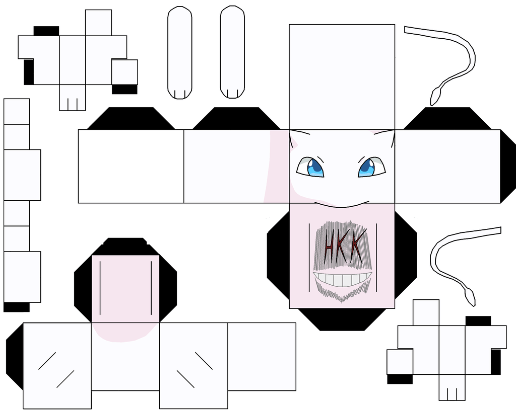 Banette Papier Mew Paper Toy Free Printable Papercraft Templates