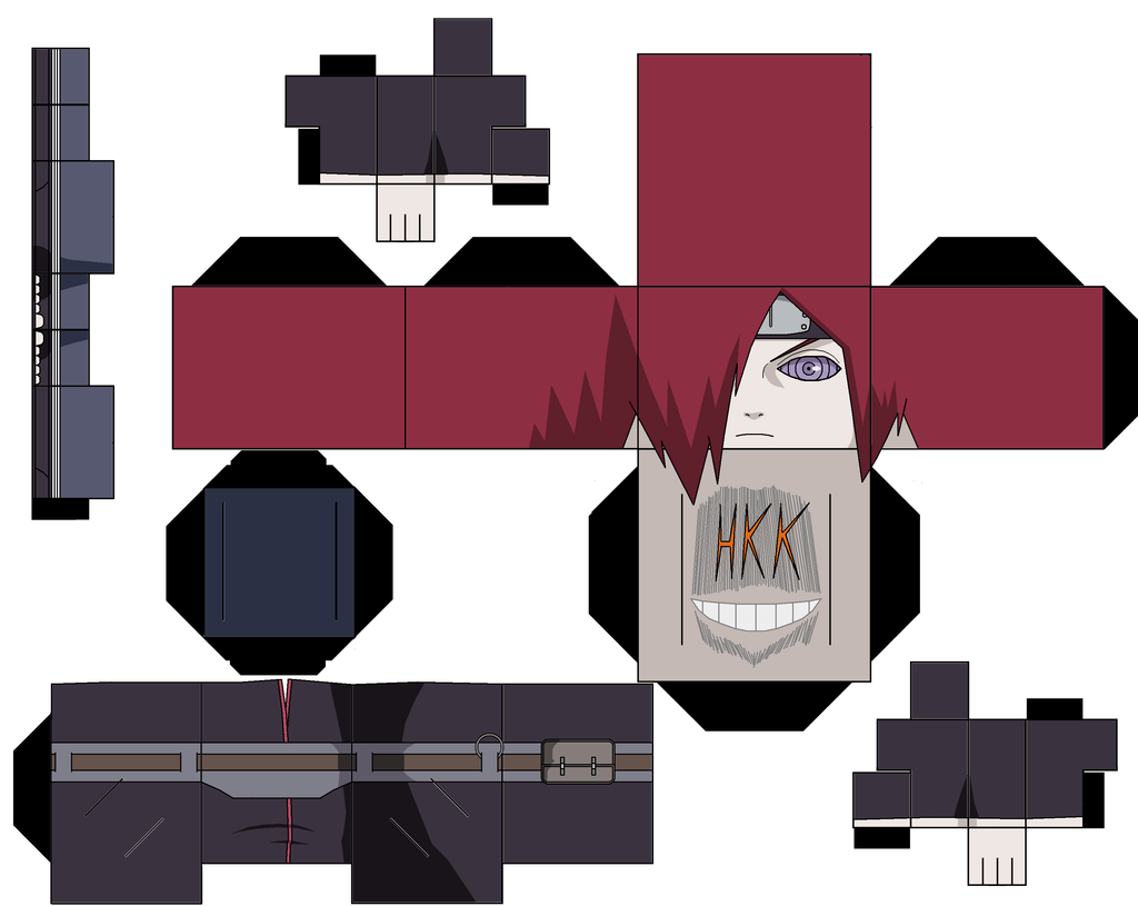 Banette Papier Nagato Paper Toy Free Printable Papercraft Templates