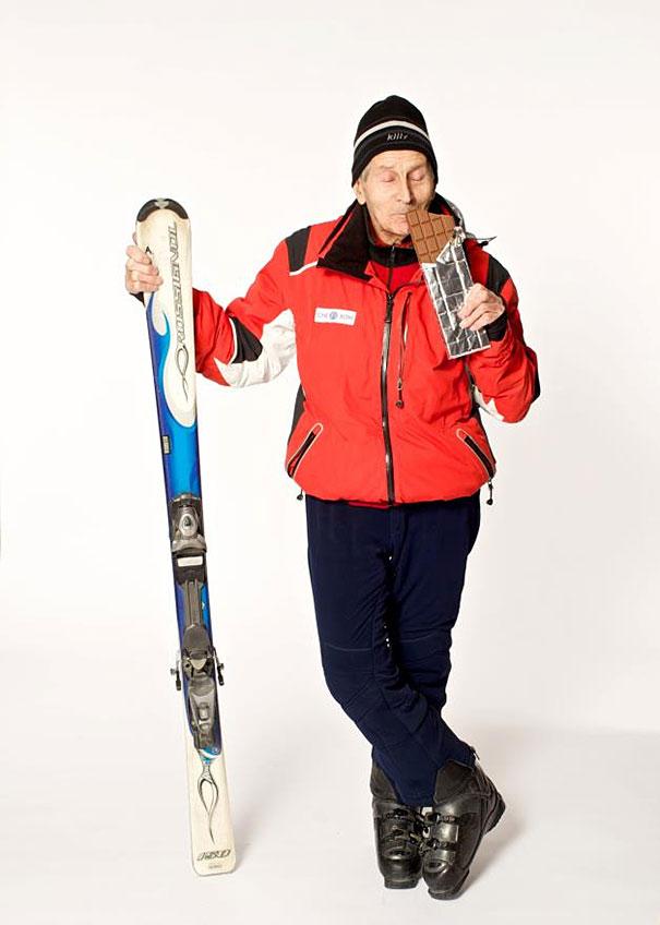 96-летний лыжник Александр Розенталь