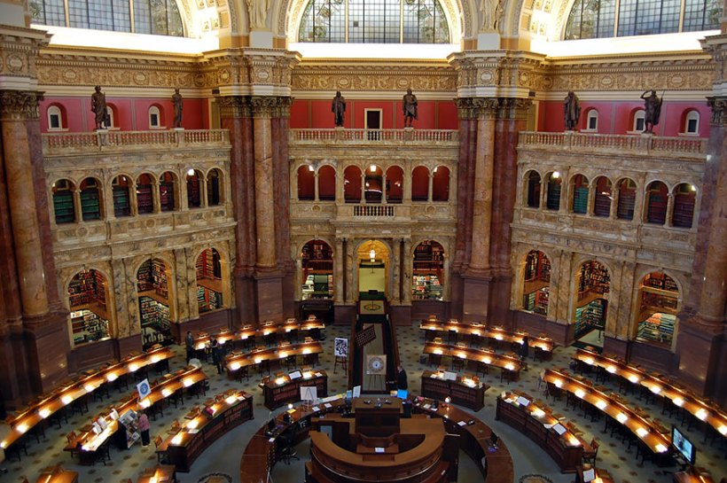 A Biblioteca do Congresso, Washington, EUA