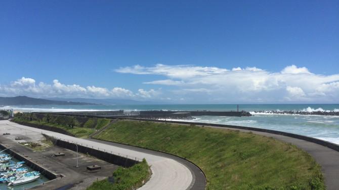 吉川展望台から見た太平洋 - 高知県香南市吉川町