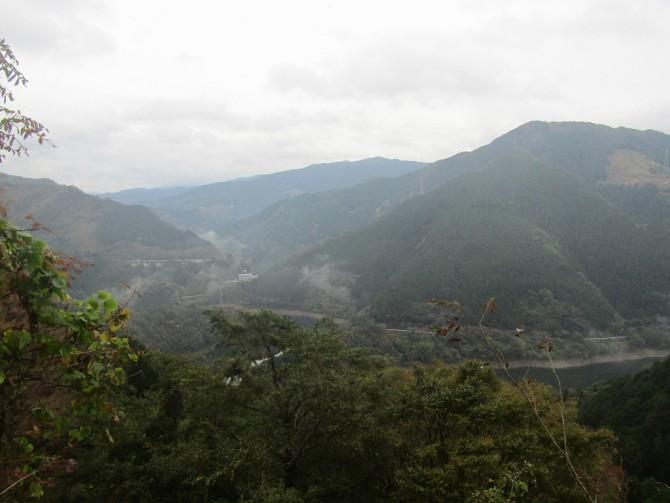 山下り中の風景