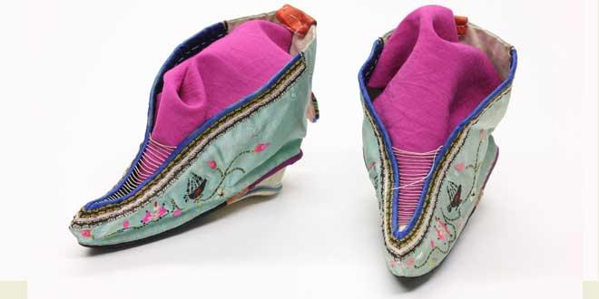 Zapatos de loto para mujeres con el pie reducido