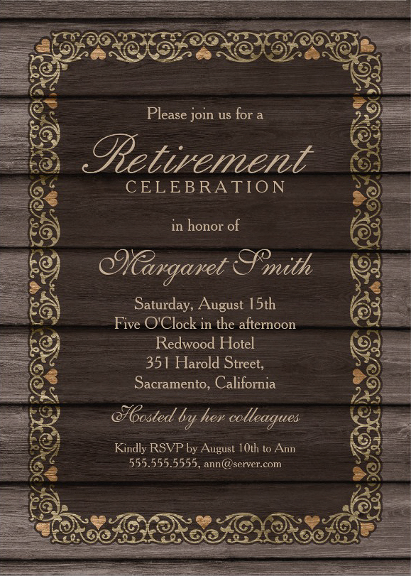 Retirement Party Invitations Archives - Superdazzle - Custom - retirement party flyer template