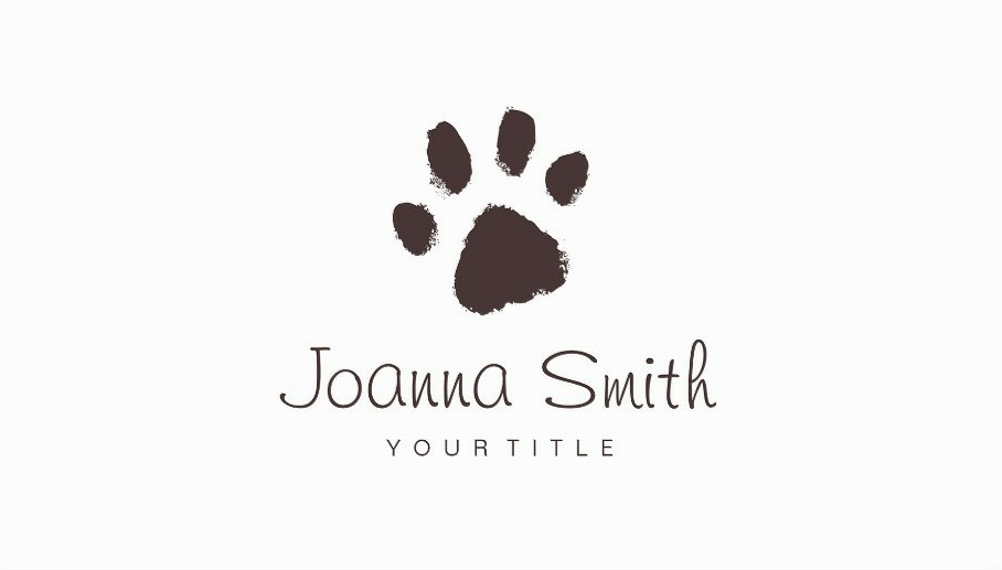 Pet Grooming Business Cards - Veterinary Clinic Pet Sitting, Dog Walking