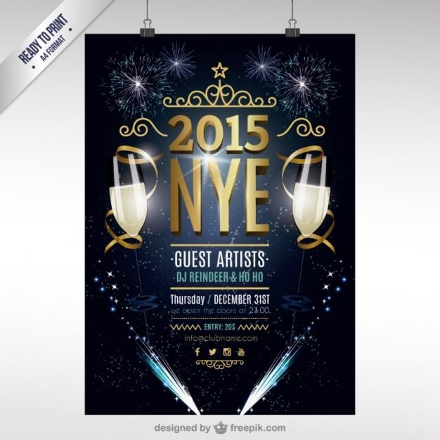 20+ Free New Year Greeting Templates and Backgrounds - Super Dev - new year poster template