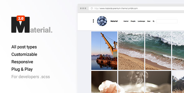 Best Material Design Tumblr Themes for Free Download - Super Dev - portfolio themes tumblr