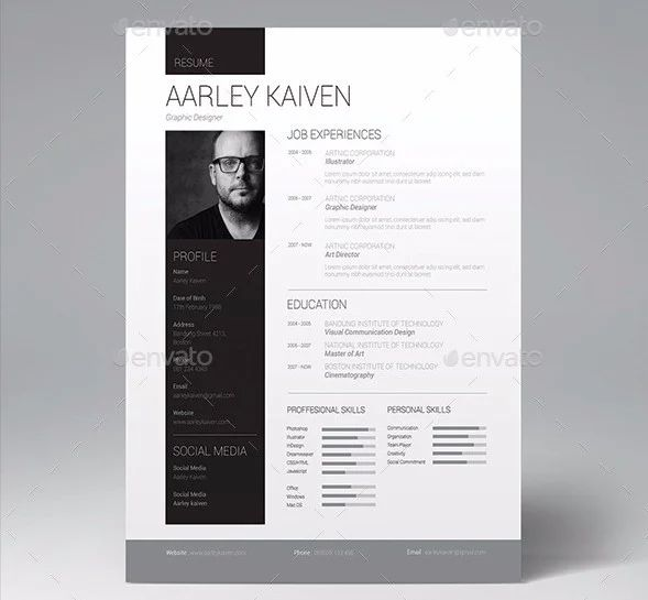 graphic design resume word doc template