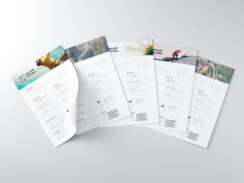 28 Minimal  Creative Resume Templates - PSD, Word  AI (Free - clean resume template