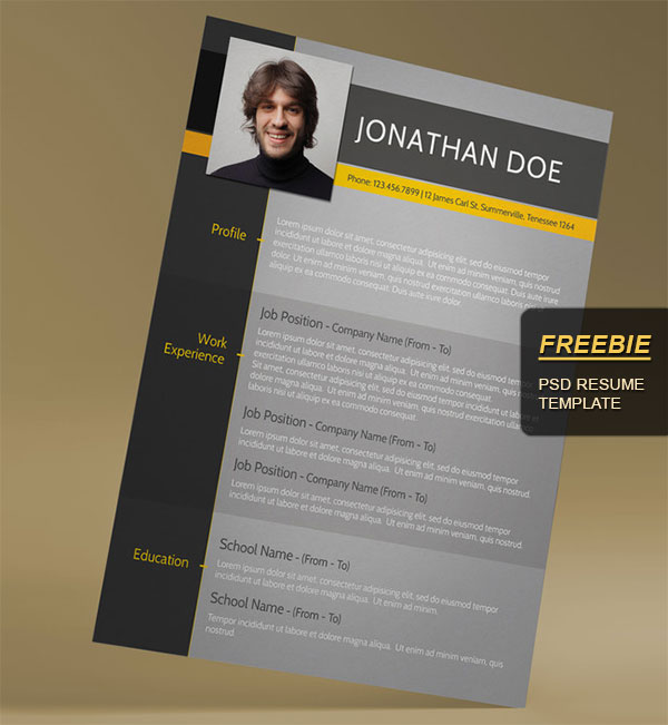 28 Minimal  Creative Resume Templates - PSD, Word  AI (Free - Resumes Templates Download