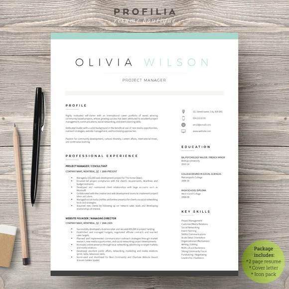 28 Minimal  Creative Resume Templates - PSD, Word  AI (Free - Resume/cv Template