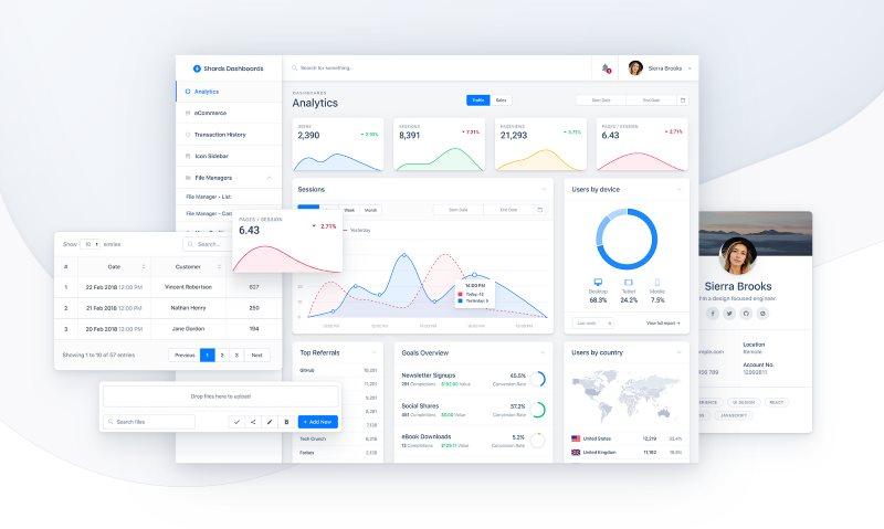 30+ Bootstrap Admin Dashboard Templates - Free Download  Premium