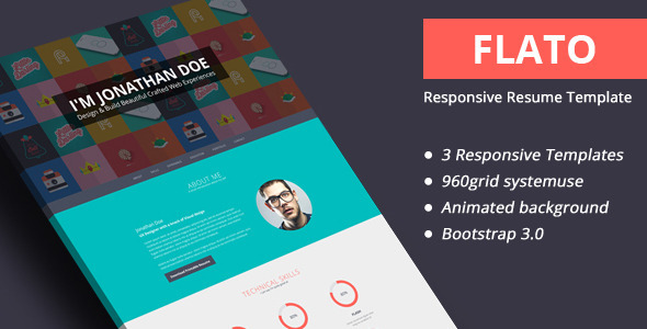 21 Professional HTML  CSS Resume Templates for Free Download (and - bootstrap resume template