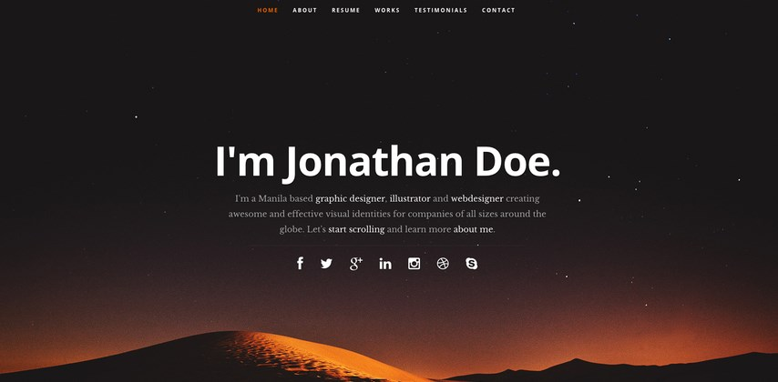 free html and css cv resume templates