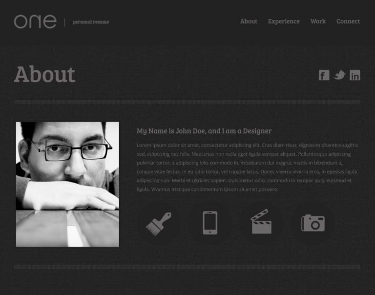 21 Professional HTML  CSS Resume Templates for Free Download (and - web resume