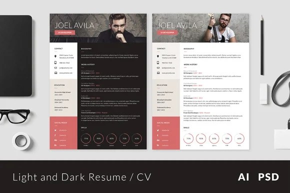 15 Material Design Resume Templates for the Perfect First Impression - Designing A Resume
