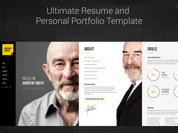 16 Resume WordPress Themes for Personal Websites with CV - Super Dev - personal website resume