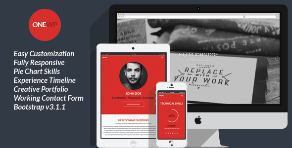 16 Resume WordPress Themes for Personal Websites with CV - Super Dev - wordpress resume theme