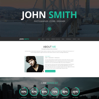16 Resume WordPress Themes for Personal Websites with CV - Super Dev - Video Resume Website