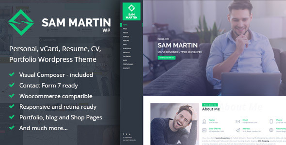 16 Resume WordPress Themes for Personal Websites with CV - Super Dev - resume wordpress theme