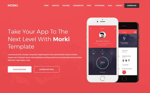 15 Mobile App Landing Page Templates Built with Bootstrap - Super
